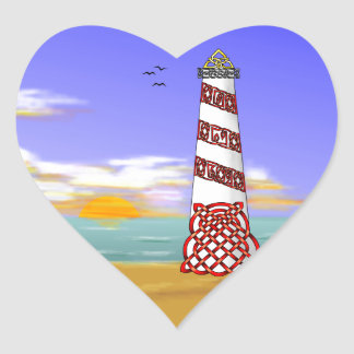Lighthouse Heart Sticker