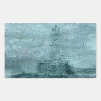 Lighthouse Impasto Rectangular Sticker