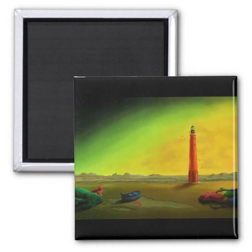 Lighthouse in a Barren Landscape magnet
