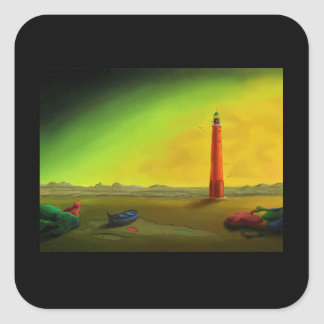 Lighthouse in a Barren Landscape sticker