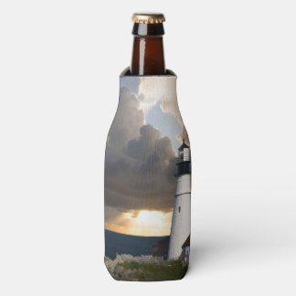 Lighthouse in a Storm Bottle Cooler