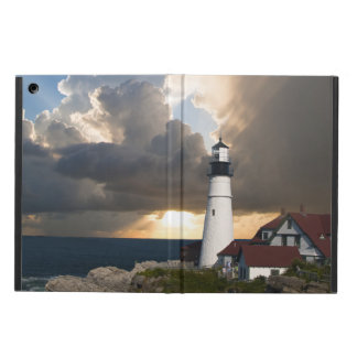 Lighthouse in a Storm iPad Air Covers