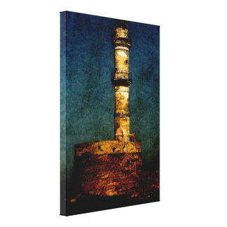 Lighthouse in Chania Gallery Wrapped Canvas