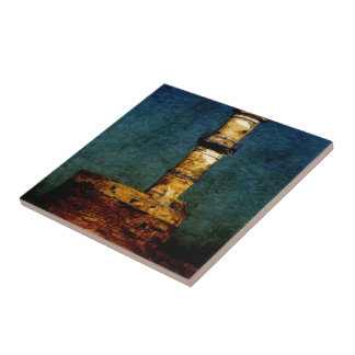 Lighthouse in Chania Ceramic Tile