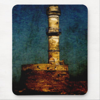 Lighthouse in Chania Mouse Pad