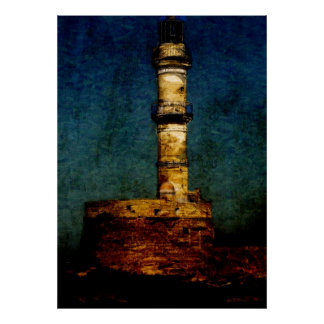 Lighthouse in Chania Poster