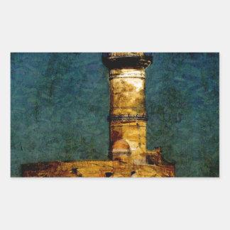 Lighthouse in Chania Rectangular Sticker