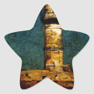 Lighthouse in Chania Star Sticker
