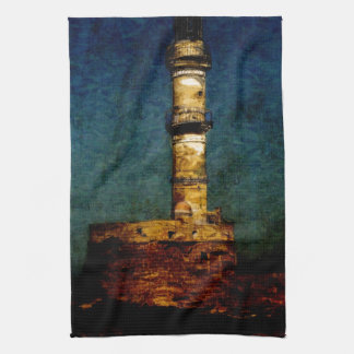 Lighthouse in Chania Towel