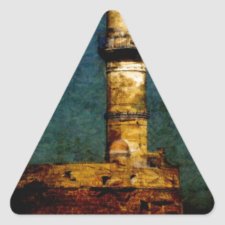 Lighthouse in Chania Triangle Sticker