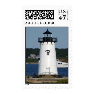 Lighthouse in Edgartown Martha's Vineyard Massachu Postage Stamp