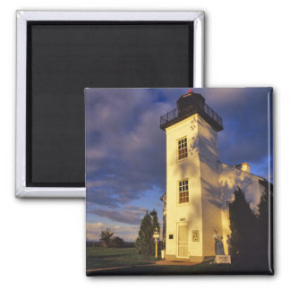 Lighthouse in Escanaba UP Michigan 2 Inch Square Magnet