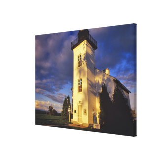 Lighthouse in Escanaba UP Michigan Canvas Print