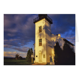 Lighthouse in Escanaba UP Michigan Card