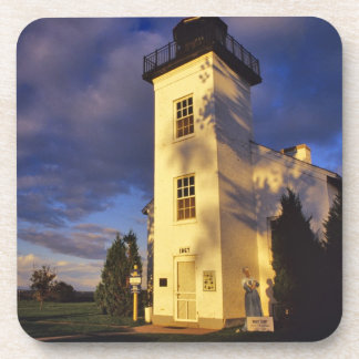 Lighthouse in Escanaba UP Michigan Beverage Coasters