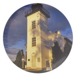 Lighthouse in Escanaba UP Michigan Dinner Plate