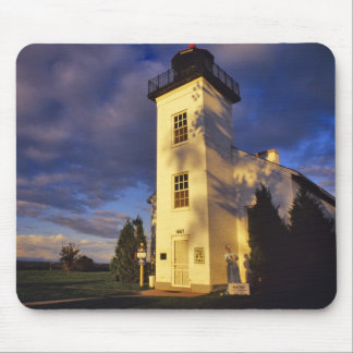 Lighthouse in Escanaba UP Michigan Mouse Pads