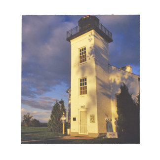 Lighthouse in Escanaba UP Michigan Notepad