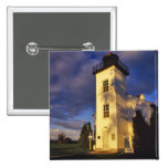 Lighthouse in Escanaba UP Michigan Pinback Button