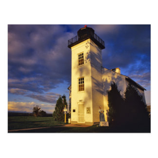 Lighthouse in Escanaba UP Michigan Postcard