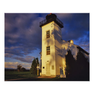 Lighthouse in Escanaba UP Michigan Poster