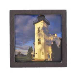 Lighthouse in Escanaba UP Michigan Premium Jewelry Box