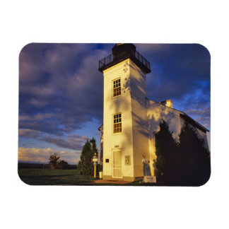 Lighthouse in Escanaba UP Michigan Vinyl Magnet