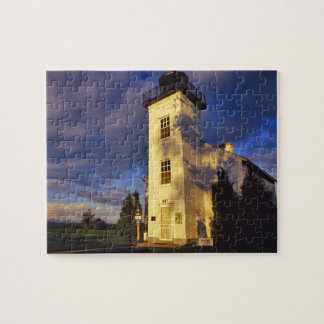 Lighthouse in Escanaba UP Michigan Jigsaw Puzzle