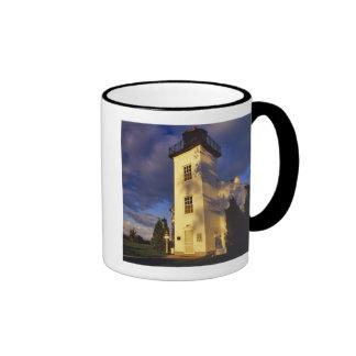 Lighthouse in Escanaba UP Michigan Ringer Mug