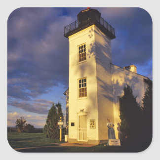 Lighthouse in Escanaba UP Michigan Square Stickers
