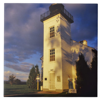 Lighthouse in Escanaba UP Michigan Ceramic Tile