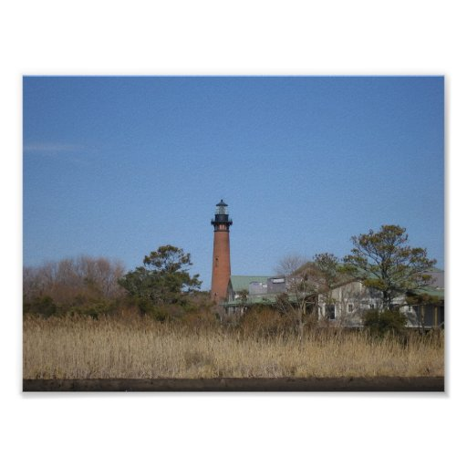 Lighthouse in Field Poster
