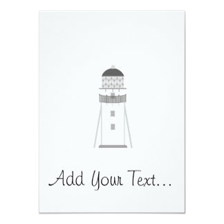 Lighthouse in gray an white 4.5x6.25 paper invitation card