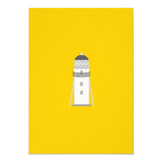 Lighthouse in gray an white 5x7 paper invitation card