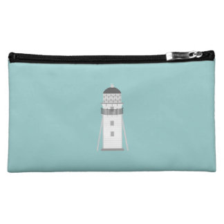 Lighthouse in gray an white makeup bags