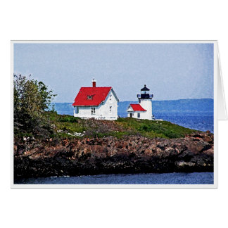 Lighthouse in Maine Card