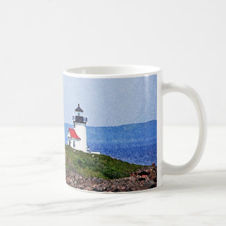 Lighthouse in Maine Classic White Coffee Mug