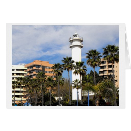 Lighthouse in Marbella, Spain Greeting Card