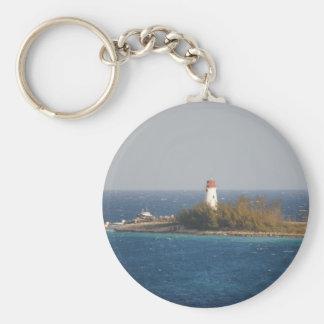 Lighthouse in Nassau Bahamas Keychains