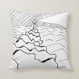Lighthouse in New England Throw Pillow