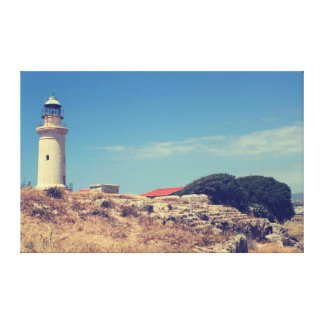 Lighthouse in Paphos Gallery Wrap Canvas