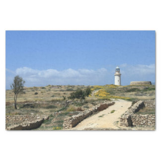 Lighthouse in Paphos Tissue Paper