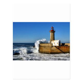 Lighthouse in Porto Postcard