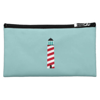 Lighthouse in red an white cosmetic bag