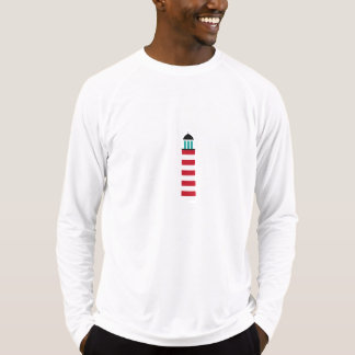 Lighthouse in red an white tee shirts