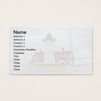 Lighthouse in Snow Business Card