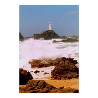 LIGHTHOUSE IN STORMY WEATHER POSTER