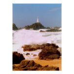 LIGHTHOUSE IN STORMY WEATHER PRINT