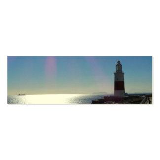 Lighthouse in Sunshine, Gibraltar Business Card Templates