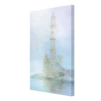 Lighthouse in the Mist Stretched Canvas Prints